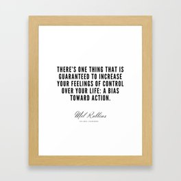 6  | Mel Robbins Quotes | 190802 Framed Art Print