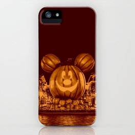 Vintage Halloween poster pumpkin iPhone Case