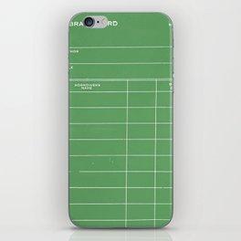 Library Card BSS 28 Negative Green iPhone Skin