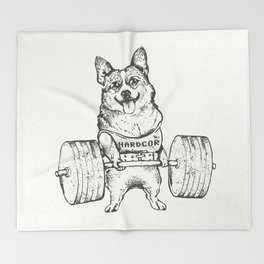 Corgi Lift Throw Blanket