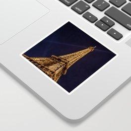 Illuminated Eiffel Tower, Paris, France Sticker