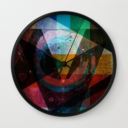 Abstract symbolic geometric composition Wall Clock