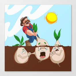 Turnip Terror Canvas Print