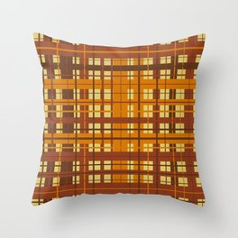 Plaid pattern Throw Pillow