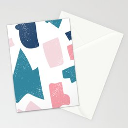 Seamless Bright Colorful Pattern Stationery Cards