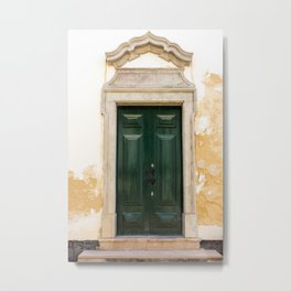 Old door in Tavira, Portugal Metal Print