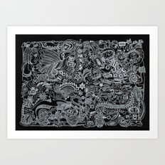 Ancient Figures II Art Print