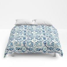 tile pattern IV - Azulejos, Portuguese tiles Comforters