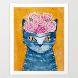 Frida Catlo in Blue Kunstdrucke