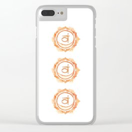 Svadhisthana chakra watercolor painting Clear iPhone Case