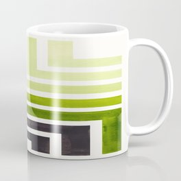 Sap Green Mid Century Modern Watercolor Colorful Ancient Aztec Art Pattern Minimalist Geometric Patt Coffee Mug