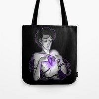 asexual Tote Bags featuring Ace of Diamonds by Kieran Thompson
