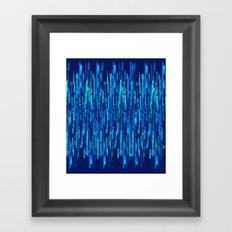 vertical brush blue version Framed Art Print