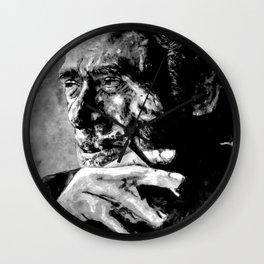 Charles Bukowski - black - quote Wall Clock