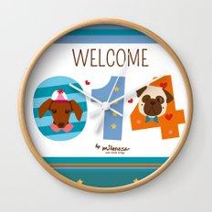 Welcome 014 Wall Clock