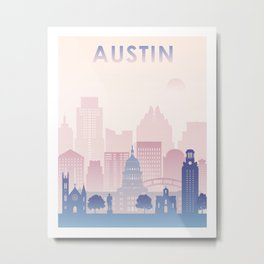 Austin Color Print Metal Print