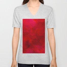 3D Red Galaxy Pattern Unisex V-Neck