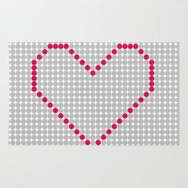 Digital Heart Rug