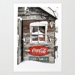 Snow Shed Vintage Signs Art Print