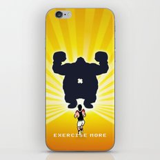 Exercise more. A PSA for stressed creatives. iPhone & iPod Skin