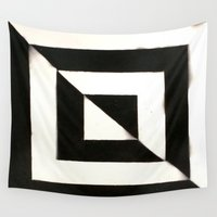 square Wall Tapestries featuring Square by Allison Bennett