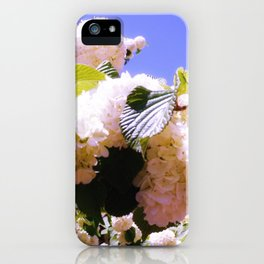 Pink Snowball Branch iPhone Case
