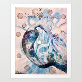 Lemurian Light of Life Art Print