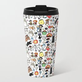 Kawaii Ghibli Doodle Metal Travel Mug