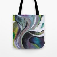 reassurance Tote Bags featuring Art print- swirl by Magdalena Hristova