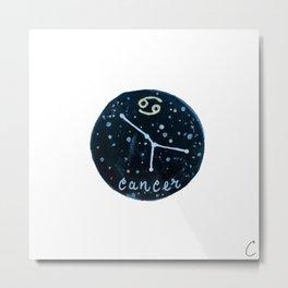 Cancer Zodiac Astrology Design Metal Print