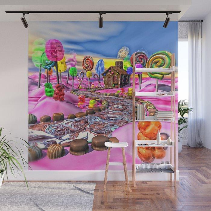 Pink Candyland Wall Mural by bonniephantasm Society6