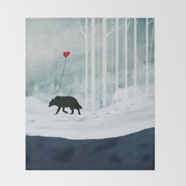 WOLF - A Love Always Carried  Throw Blanket