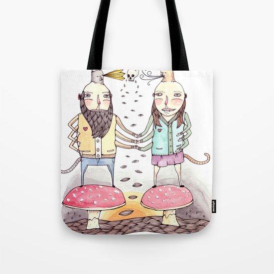 Monsters in Love Tote Bag