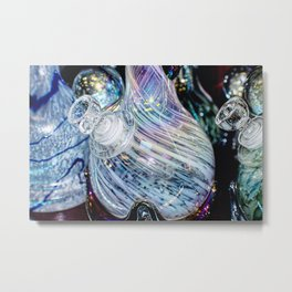 Vivid Colorful Glass Metal Print