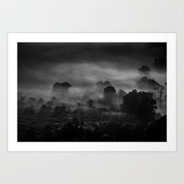 Mist at Mam Tor Art Print