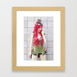 Monika Lee as Poison Ivy Framed Art Print