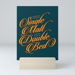 Single Malt/Double Bed Mini Art Print