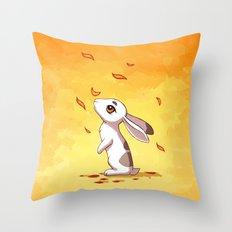 Autumn Hare Throw Pillow