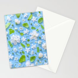 Leaves and flowers pattern (16) Stationery Cards
