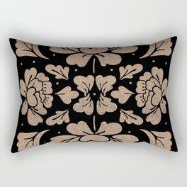 Barroco Square Glitter Rose Rectangular Pillow