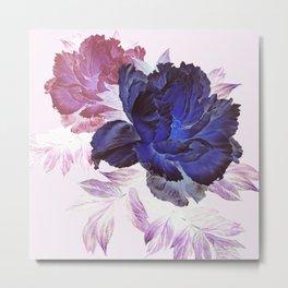big blue floral Metal Print