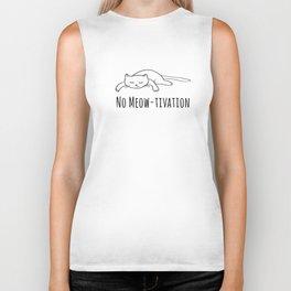 No Meow-tivation Biker Tank