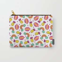 Modern colorful pineapple rainbow cool typography Carry-All Pouch