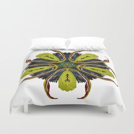 Indian Tribal Feather Star Duvet Cover
