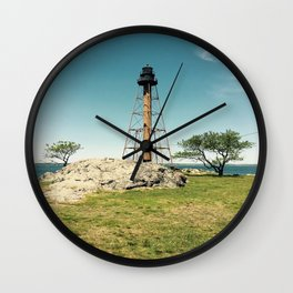 Lighthouse in the summer Wall Clock