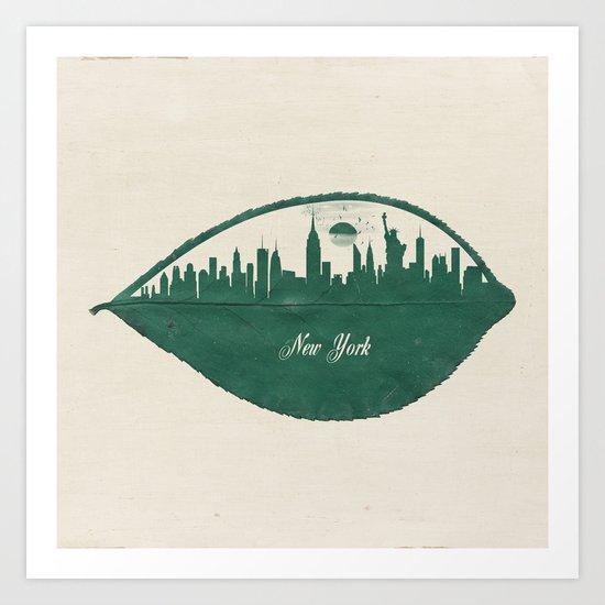 New York Skyline at Sunrise Art Print