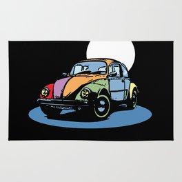 VW's beetle - vintage car - old style automobile - Pop culture Rug