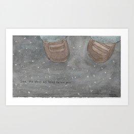 see the stars Art Print