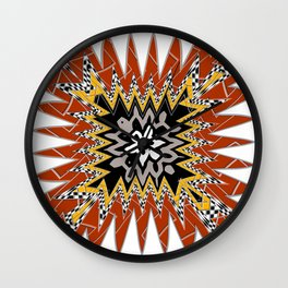 abstract zees 5 Wall Clock