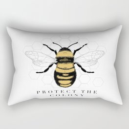 Protect the Colony illustration / Bee illustration/ save the bees draw Rectangular Pillow